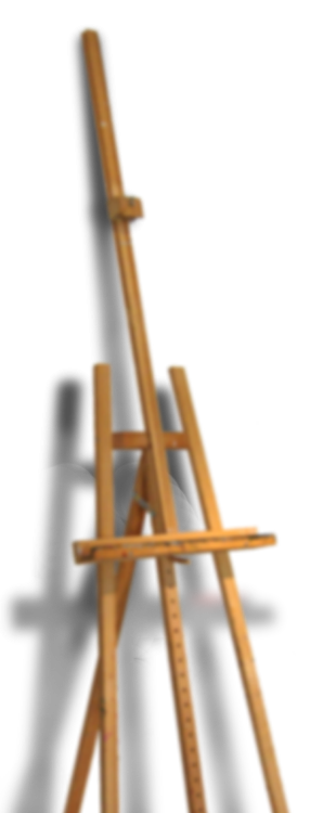 pe-ace easel on the left